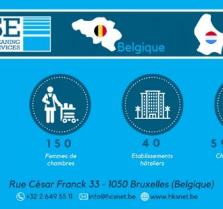 infographie housekeeping & cleaning services nettoyage chambres hôtels Belgique